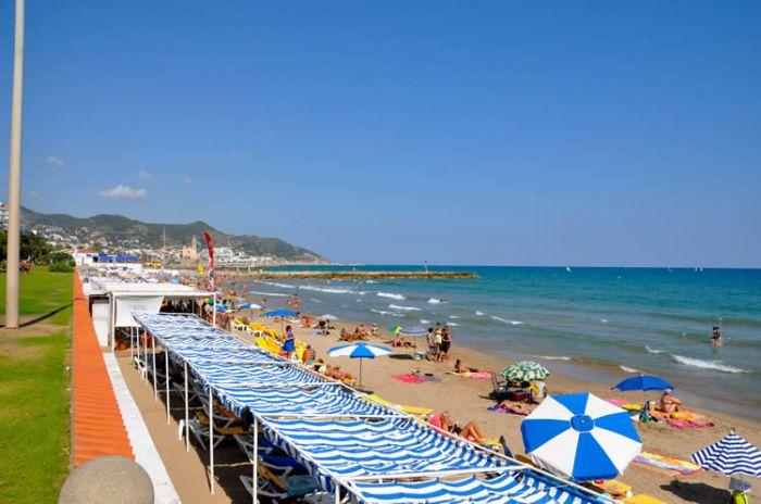 Playa de l'Estanyol de Sitges