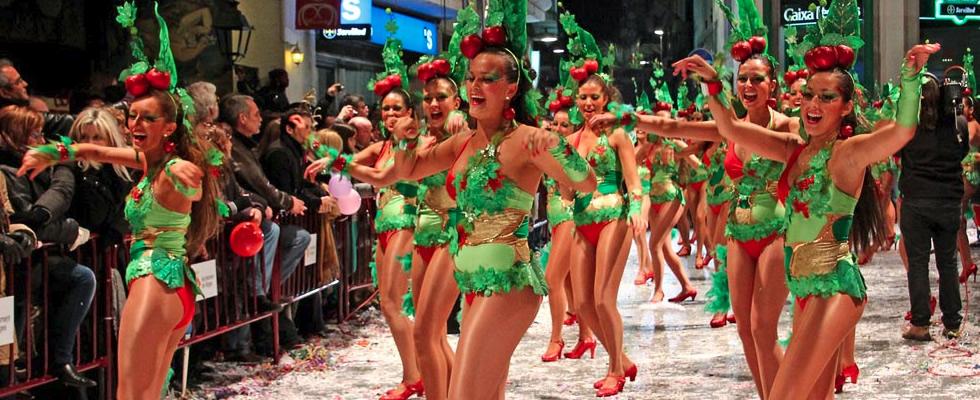 Desfile en el Carnaval de Sitges